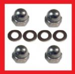 A2 Shock Absorber Dome Nuts + Washers (x4) - Kawasaki KH125